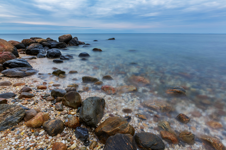beach rocks long island sound green port ny