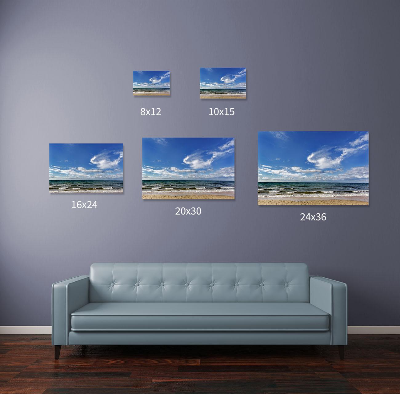 Hufnagel fine art photography print size options