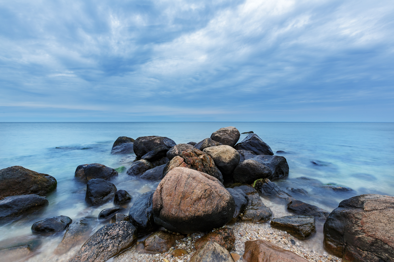 seascape beach rocks long island sound NY